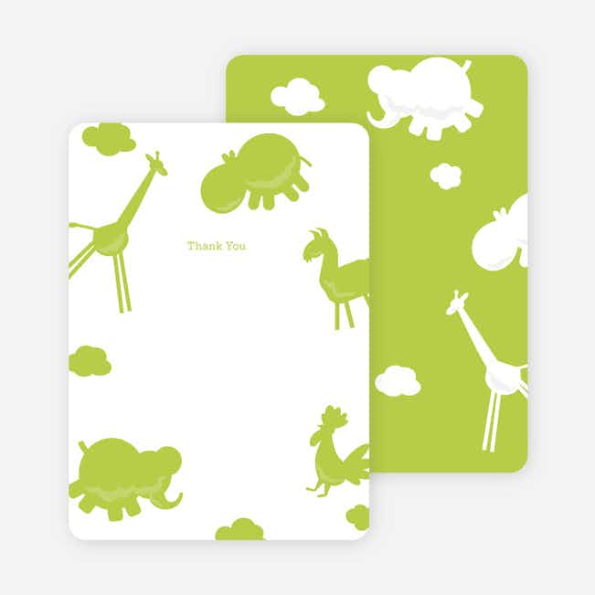 Note Cards: 'Animal Downpour' cards. - Celery