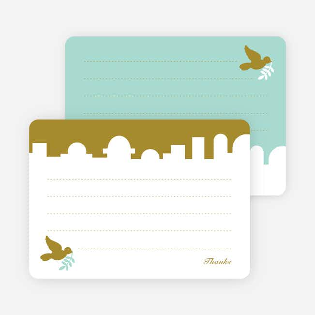 Note Cards: 'Dove Over Bethlehem' cards. - Olive