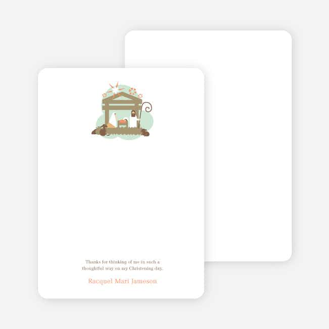 Note Cards: 'Nativity Scene Holiday Card' cards. - Olive