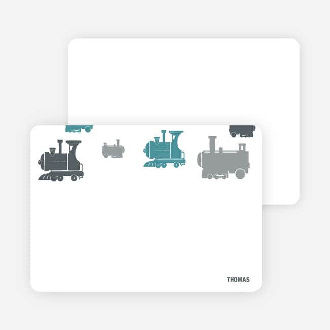 Note Cards: 'Thomas Loves the Train' cards. - Blue