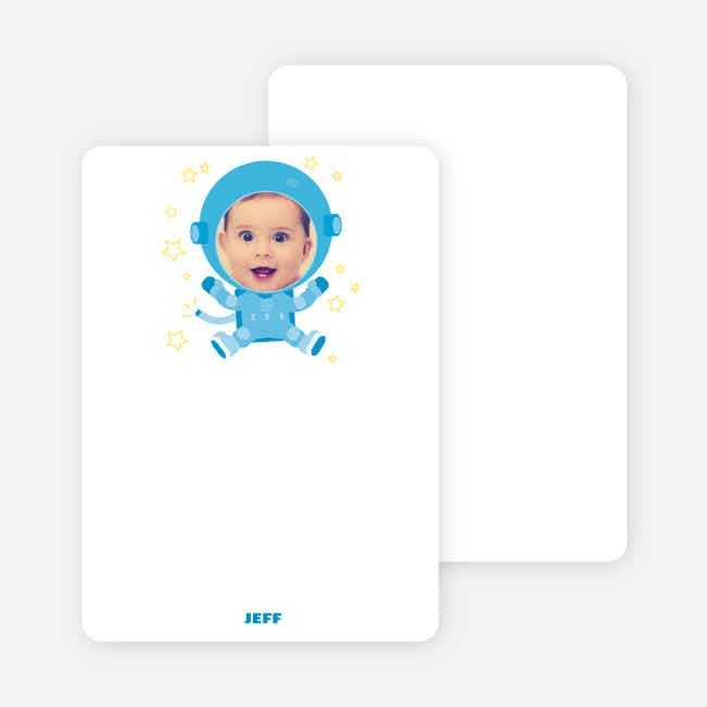Notecards for the 'Astronaut Photo Invitations' cards. - Yellow