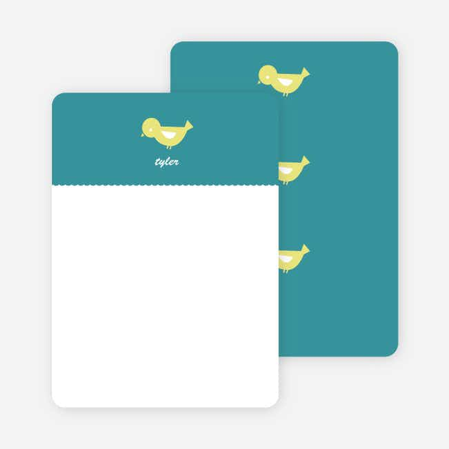 Notecards for the 'Birdie Announcement' cards. - Teal