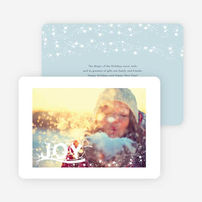 Sprinkles of Joy Holiday Cards - Blue