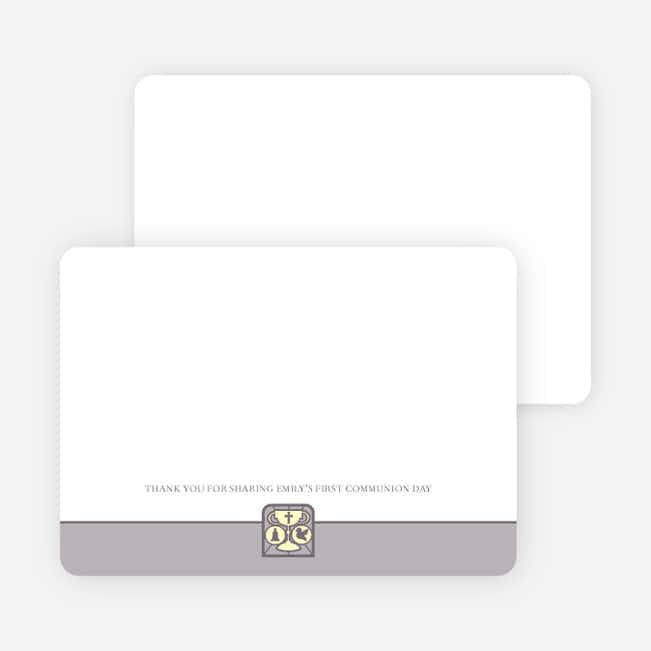 Stationery: 'Chalice and Child' cards. - Slate Grey
