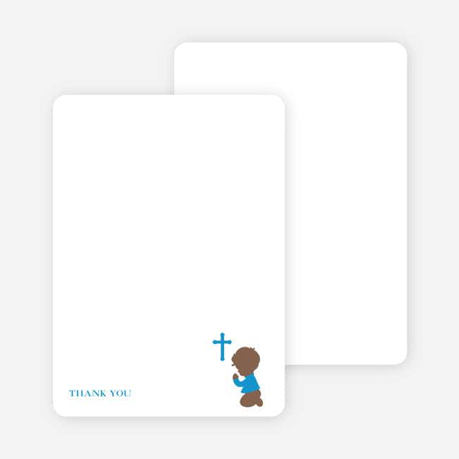 Stationery: 'Prayers Answered' cards. - Blue