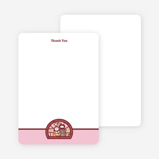 Stationery: 'Stained Glass Baptism' cards. - Pink