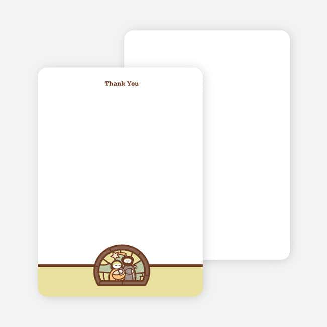 Stationery: 'Stained Glass Baptism' cards. - Yellow