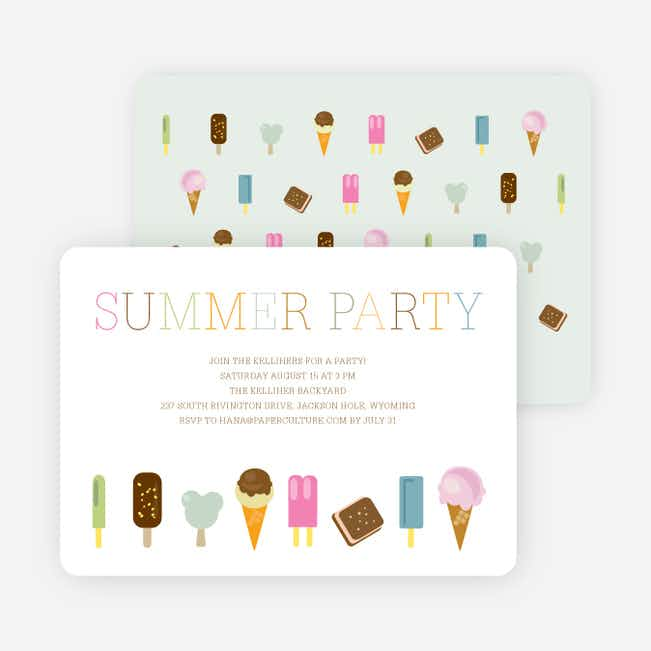 Summer Ice Cream and Popsicle Treats - Chocolate
