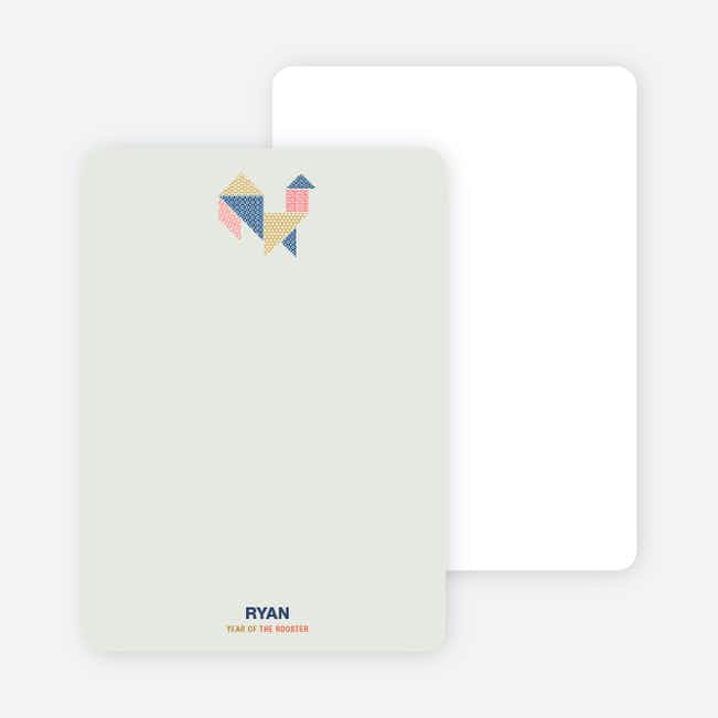 Year of the Rooster Tangram Themed Cards - Multi