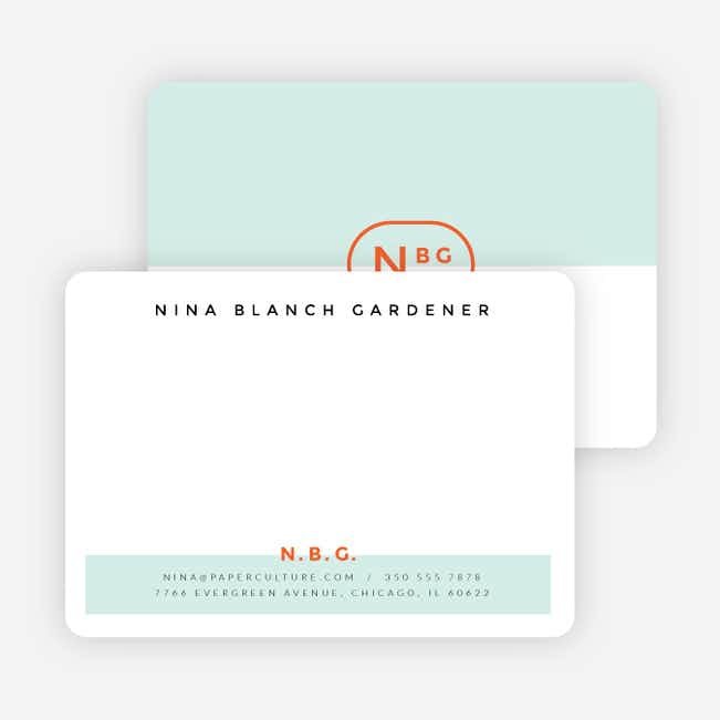 Color Splash Notecards - Green