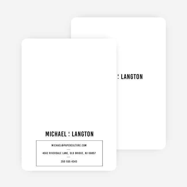 Contrast Stationery - Black