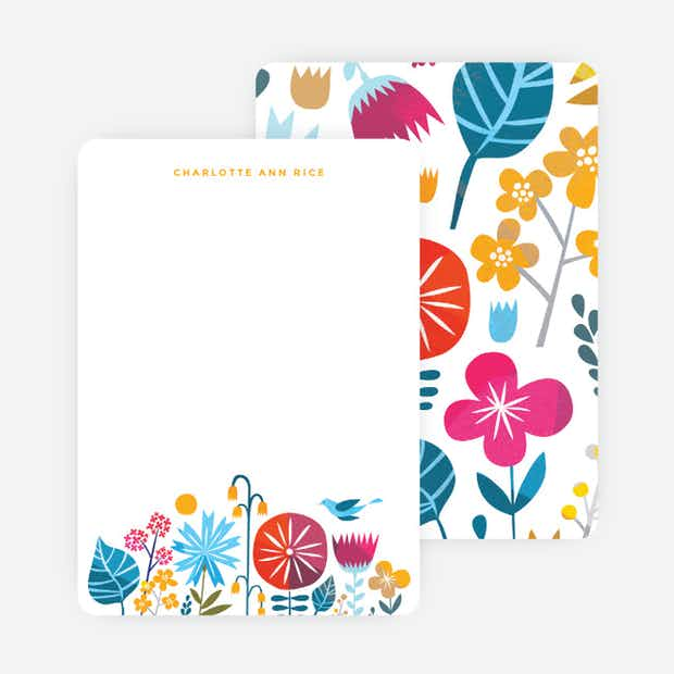 Floral This Stationery - Main