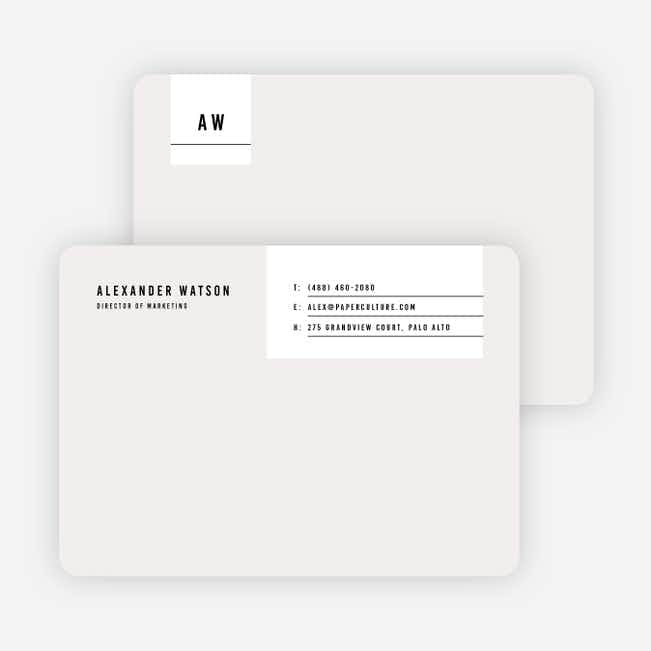 Modern Postcard Notecards - Beige