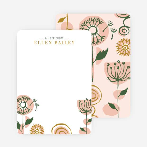 Retro Floral Stationery - Main