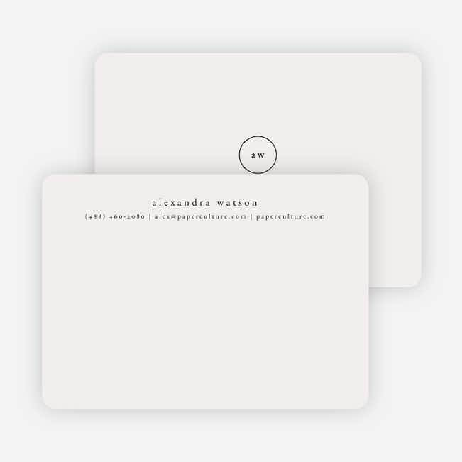 Simple & Elegant Stationery - Black