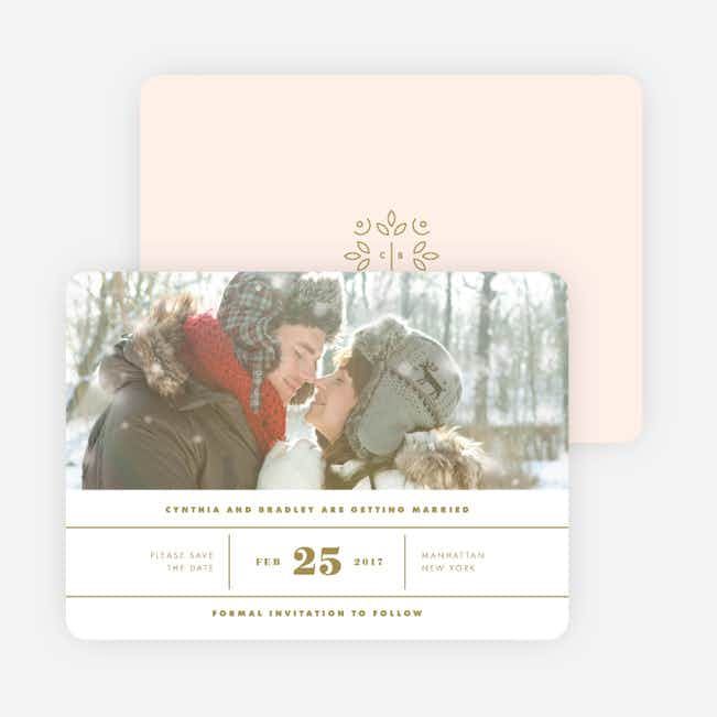 Line Up, Be Counted Wedding Save the Date Cards - Pink