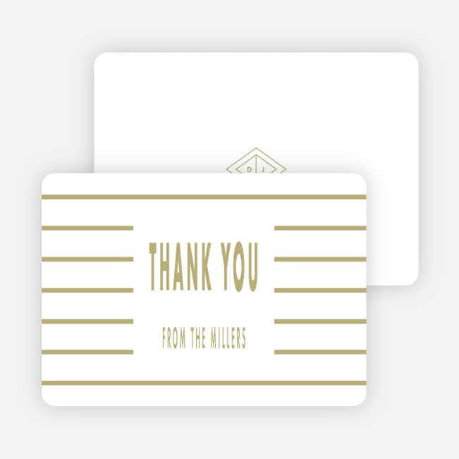 Diamond Chic Wedding Thank You Cards - Beige