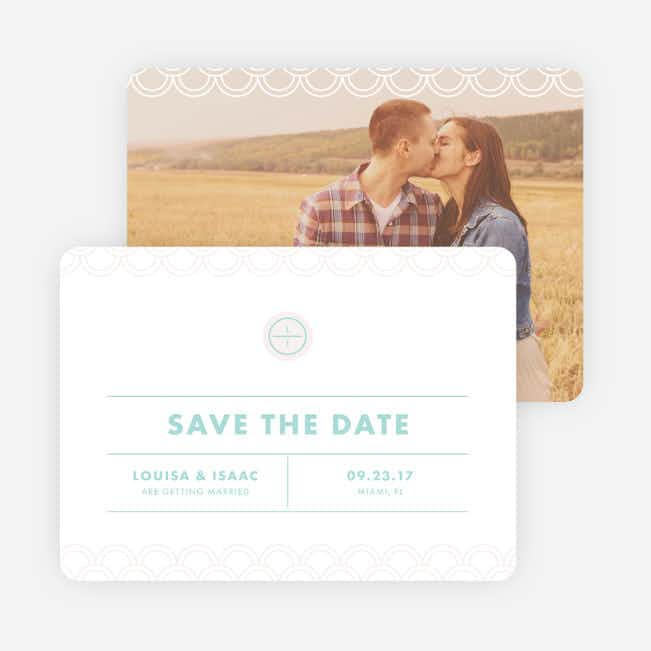 Vogue Imagination Wedding Save the Date Cards - Blue