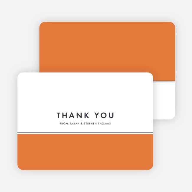 Modern and Classic Wedding Thank You Cards - Orange