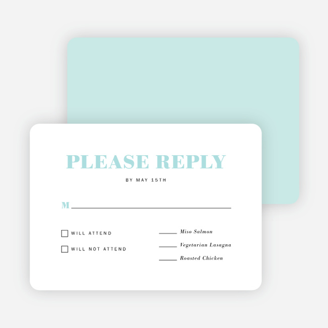 Simple Chic Wedding Response Cards Paper Culture