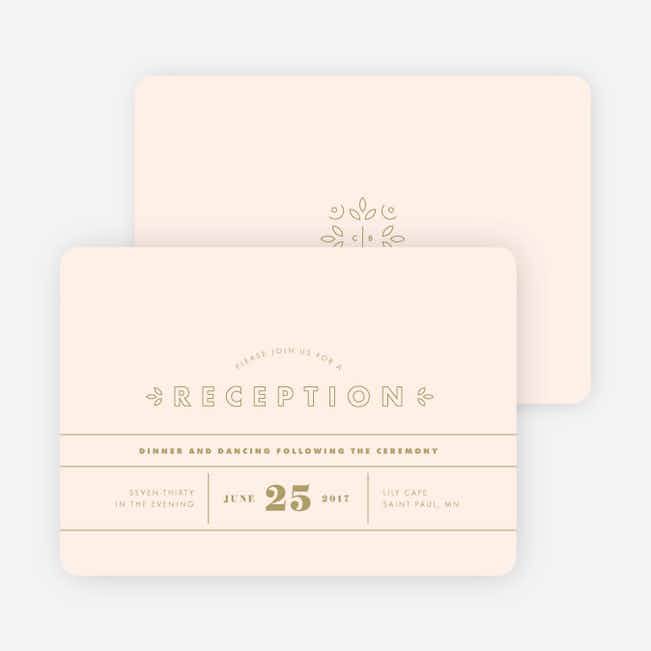 Line Up, Be Counted Wedding Reception Cards - Pink