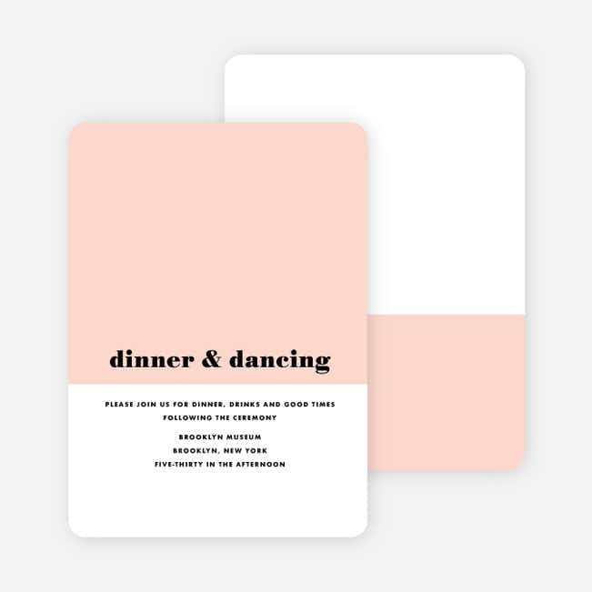 Sealed with a Ring Wedding Reception Cards - Pink
