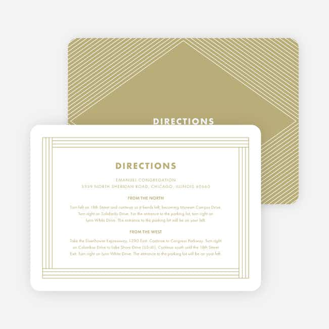 Diamond Chic Wedding Information Cards - Beige
