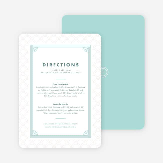 Vogue Imagination Wedding Information Cards - Blue