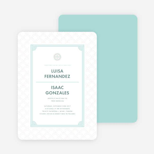 Vogue Imagination Wedding Invitations - Blue