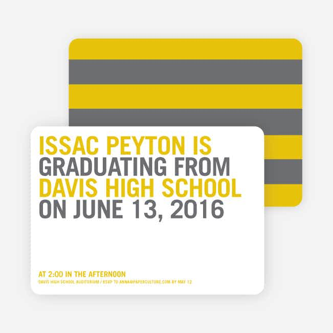 Simple Graduation Invitations - Squash