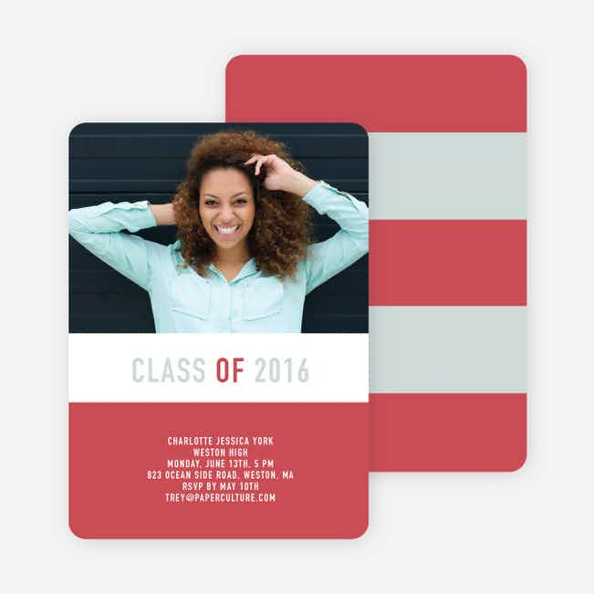 Unique Modern Graduation Announcements and Invitations - Maroon