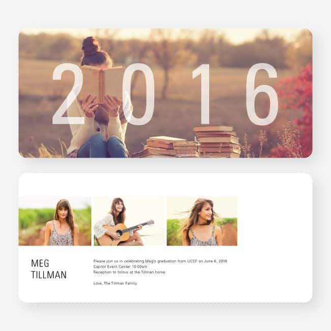 A Year to Remember Graduation  Invitations - Black