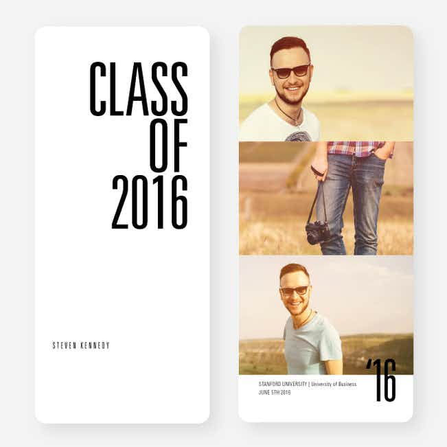 This is your Year Graduation Cards - Black