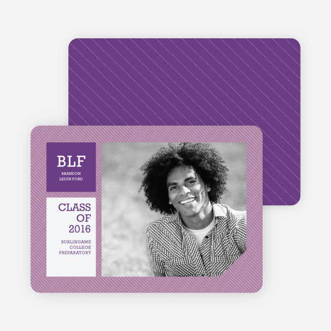 Graduation Stripes Graduation Announcements - Wisteria