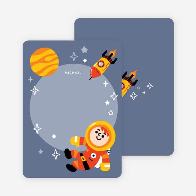 Astronauts in Space Kids Stationery - Blue