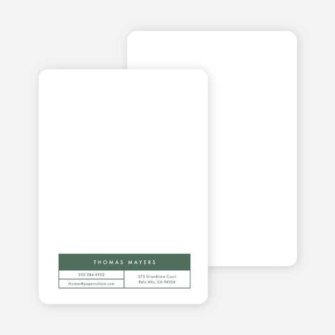 Block Corporate Stationery - Green