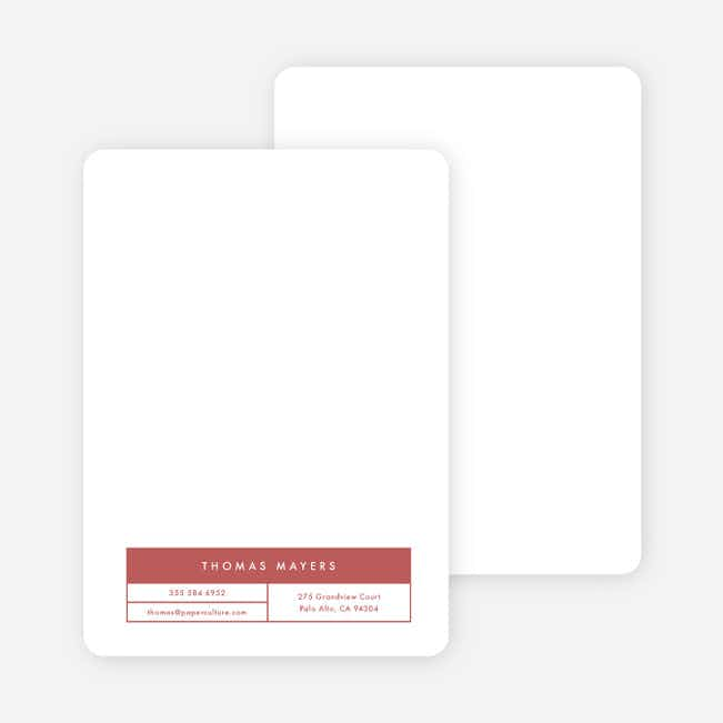 Block Corporate Stationery - Red