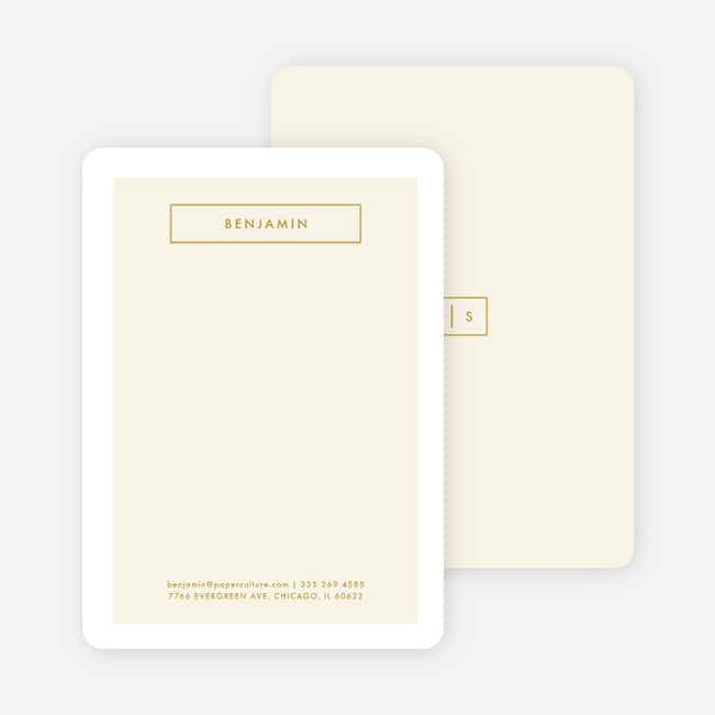 Boxed Up Business Stationery - Yellow