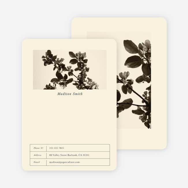 Charcoal Relief Floral Stationery - Black