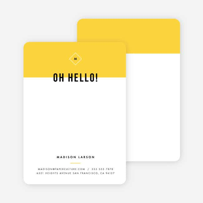 Color Block Stationery - Yellow