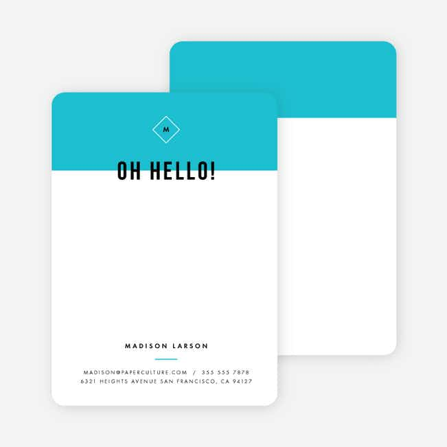 Color Block Stationery - Blue
