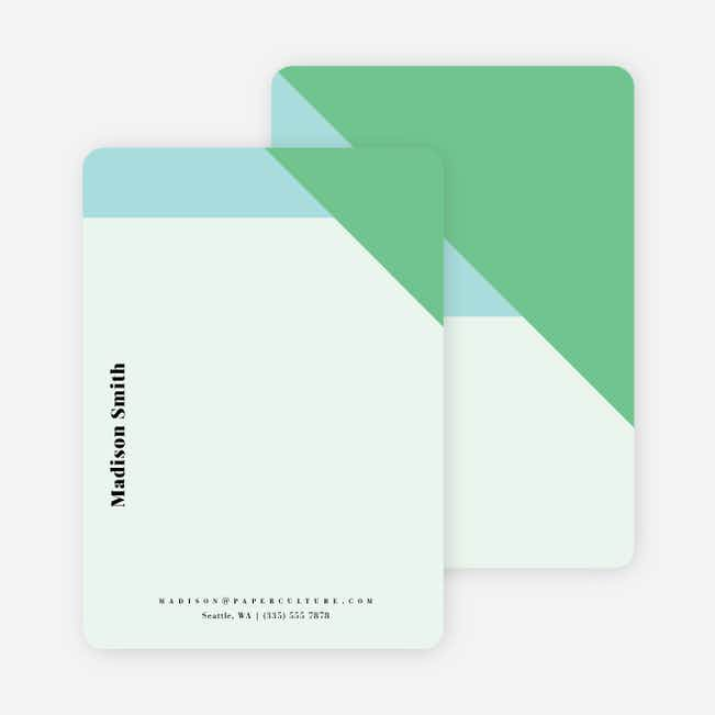 Geometric Bliss Stationery - Green