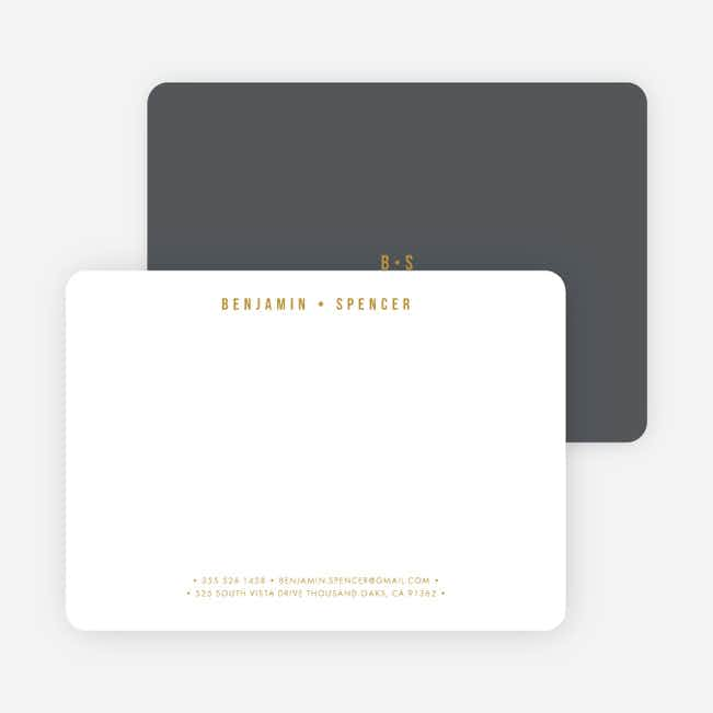 Monogram Pro Stationery - Gray