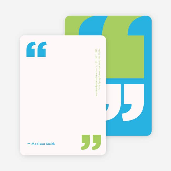 Quotable Note Cards - Blue