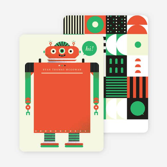 Robot Rollick Stationery - Orange