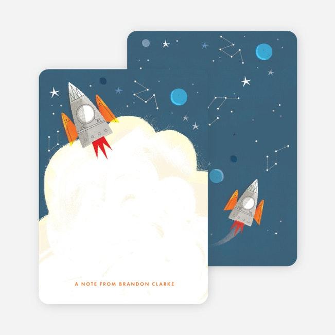 Personalised Photo Space Theme Rocket birthday thank you cards inc Envelopes