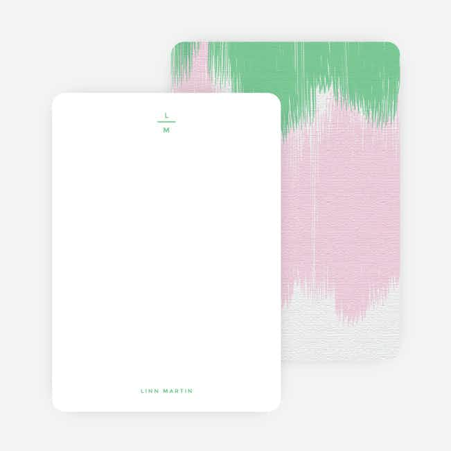 Bold Brushstrokes Personalized Stationery - Green