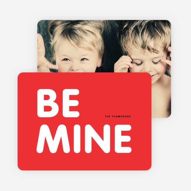 Be Mine Valentine's Day Cards - Multi