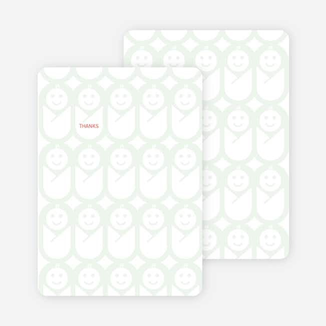 Stationery: 'Swaddle Me This' cards. - Sage