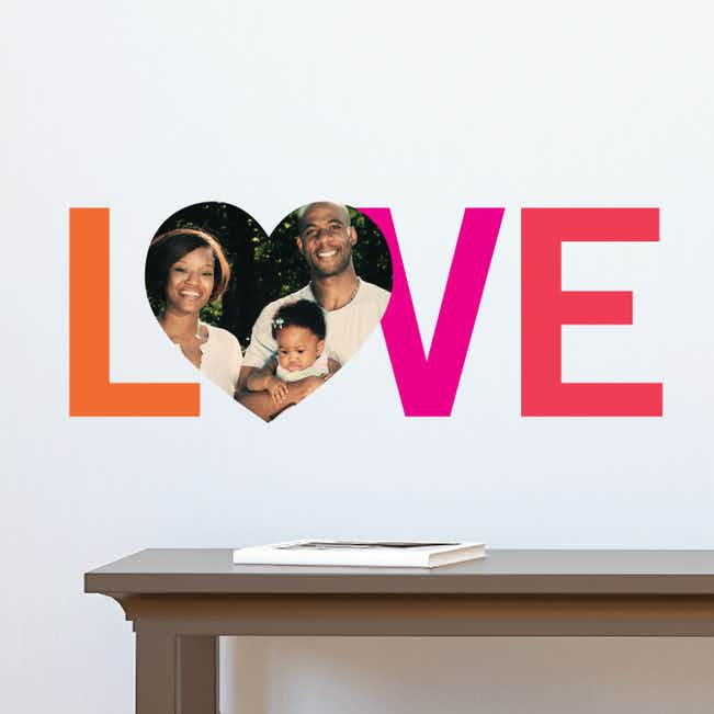 LOVE Simply Photo Wall Decals - Orange